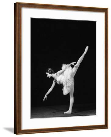 Ballerina Alicia Alonso in Arabesque Position