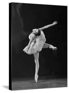 Ballerina Alicia Alonso in Attitude Renversee Position by Gjon Mili