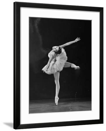 Ballerina Alicia Alonso in Attitude Renversee Position