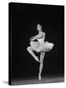 Ballerina Alicia Alonso in Pirouette Position by Gjon Mili