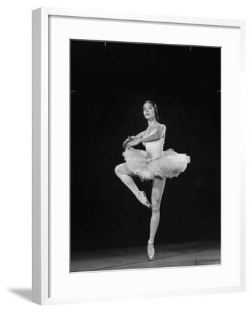 Ballerina Alicia Alonso in Pirouette Position