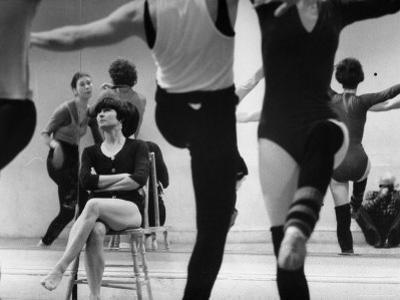 Choreographer Twyla Tharp Observing Rehearsal of American Ballet Theater Dancers
