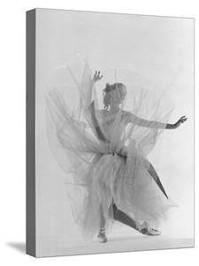 Dancer Tanaquil Leclercq Performing La Valse at Gjon Mili's Studio by Gjon Mili