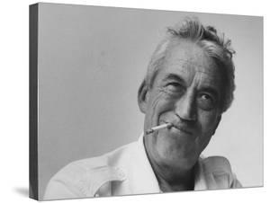 Director John Huston on Location During Filming of Motion Picture The Night of the Iguana by Gjon Mili