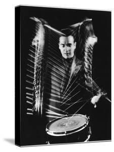 Drummer Gene Krupa Performing at Gjon Mili's Studio by Gjon Mili