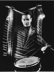 Drummer Gene Krupa Performing at Gjon Mili's Studio by Gjon Mili
