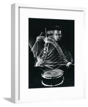Drummer Gene Krupa Playing Drum at Gjon Mili's Studio