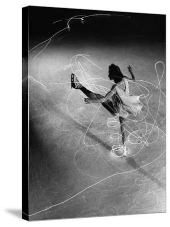 Figure Skater Carol Lynne with Flashlights Embedded in Her Skates