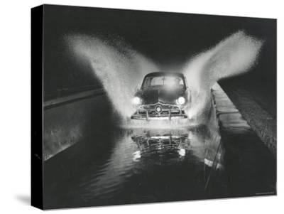 Ford Car Being Driven Through Deep Water at Ford Test Site