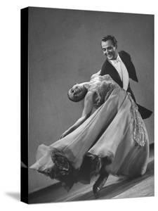 Frank Veloz and Yolanda Casazza, Husband and Wife, Top U.S. Ballroom Dance Team Performing by Gjon Mili