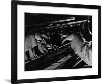 Hands of Jazz Pianist Eddie Heywood on Keyboard During Jam Session