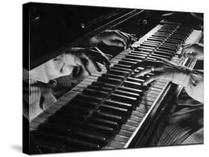 Jazz Pianist Mary Lou Williams's Hands on the Keyboard During Jam Session by Gjon Mili