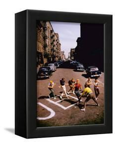 Jets' Dance on Busy Street in Scene from West Side Story by Gjon Mili