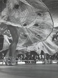 Legs and Swirling Skirts of Chorus Girls in Routine at Harem Club by Gjon Mili
