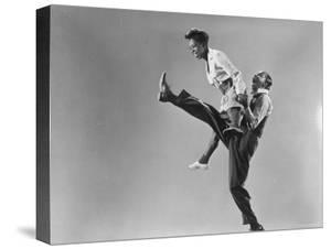 Leon Ames and Willa Mae Ricker Demonstrating a Step of the Lindy Hop by Gjon Mili
