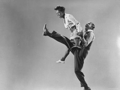 Leon Ames and Willa Mae Ricker Demonstrating a Step of the Lindy Hop
