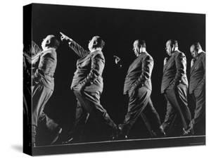 Multiple Exposure of Alfred Hitchcock by Gjon Mili