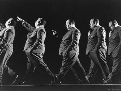 Multiple Exposure of Alfred Hitchcock