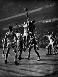 NYU vs. North Carolina in College Basketball Game at Madison Square Garden by Gjon Mili
