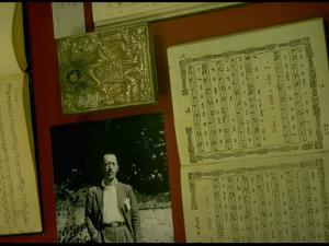Photo of Igor Stravinsky; Icon Belonging to Him by Gjon Mili