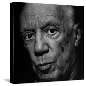 Portrait of Artist Pablo Picasso by Gjon Mili