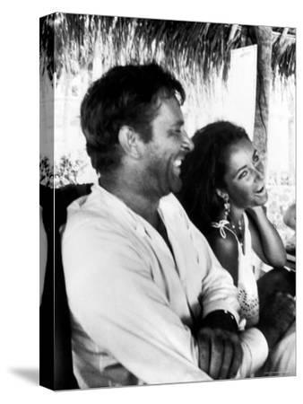 Richard Burton and Elizabeth Taylor on Location