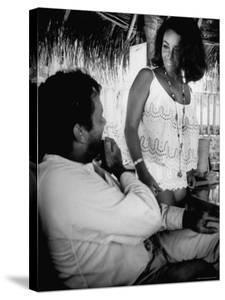 Richard Burton and Elizabeth Taylor on Location by Gjon Mili