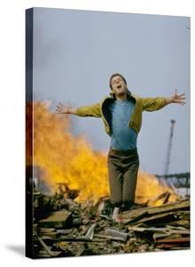 Riff Leaps over Smoldering Rubble, Scene from West Side Story by Gjon Mili