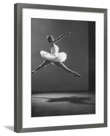 "Sadler Wells Prima Ballerina Margot Fonteyn Leaping Into Air in Performance of ""Sleeping Beauty"""