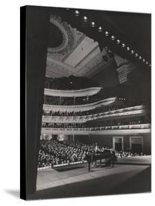 Singer Marian Anderson Performing for an Audience at Carnegie Hall by Gjon Mili