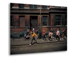 Strutting Sidewalk Dance, Scene from West Side Story by Gjon Mili