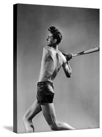 Ted Williams Showing Off His Powerful Swing