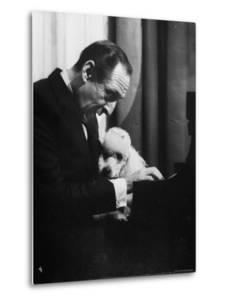Vladimir Horowitz at the Piano with Poodle by Gjon Mili