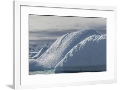 Glacial Iceberg Detail at Cuverville Island, Antarctica, Polar Regions-Michael Nolan-Framed Photographic Print