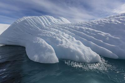 Glacial Iceberg Detail at Cuverville Island, Antarctica, Polar Regions-Michael Nolan-Photographic Print