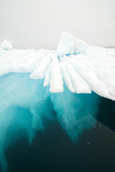 Glacial Iceberg Floating Along Coast, Spitsbergen, Svalbard, Norway-Steve Kazlowski-Photographic Print