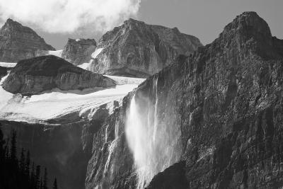 Glacial Waterfall, Rocky Mountains, Moraine Lake Area, Banff National Park, Alberta, Canada-Michel Hersen-Photographic Print