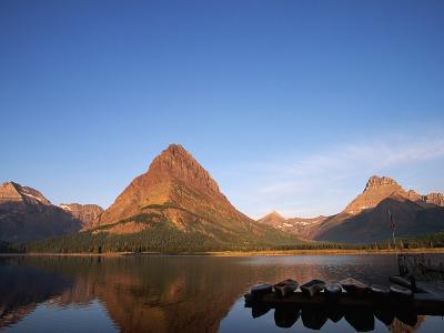 Glaciated Peaks Around Lake-Neil Rabinowitz-Photographic Print