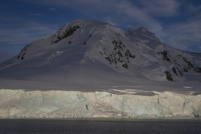 Glacier and Mountain on Cuverville Island-David Griffin-Photographic Print