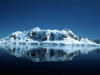 Glacier and Reflection, Paradise Bay, Antarctica-Yvette Cardozo-Photographic Print