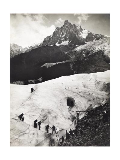 Glacier Des Bossons, Chamonix Valley, France. Tourists Climb Glacier-S. G. Wehrli-Photographic Print