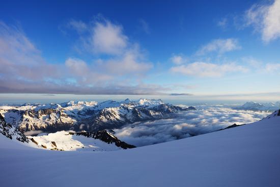 Glacier du Trient, border of Switzerland and France, Alps, Europe-Christian Kober-Photographic Print