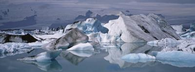 Glacier Floating on Water, Vatnajokull Glacier, Iceland--Photographic Print