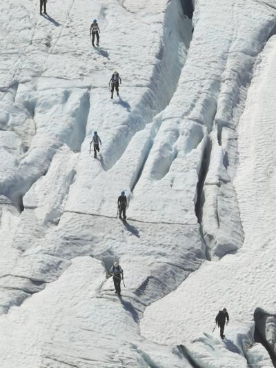 Glacier Hikers on Folgefonna Glacier, Norway-Russell Young-Photographic Print