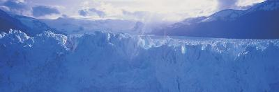 Glacier in a National Park, Moreno Glacier, Los Glaciares National Park, Patagonia, Argentina--Photographic Print