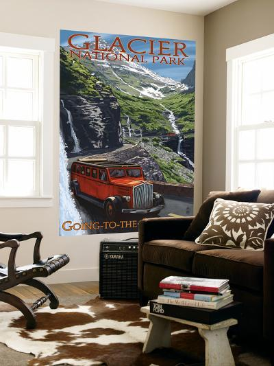Glacier National Park - Going-To-The-Sun Road, c.2009-Lantern Press-Wall Mural