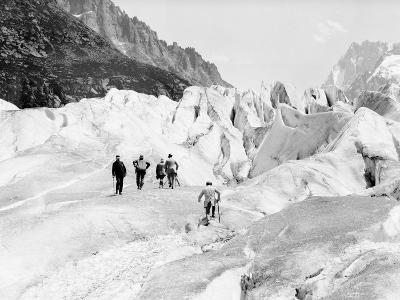 Glacier on Mount Blanc--Photographic Print
