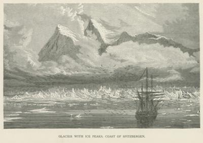 Glacier with Ice Peaks, Coast of Spitzbergen