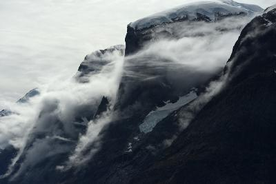 Glaciers Covered with Clouds on Skjoldungen Island-Raul Touzon-Photographic Print