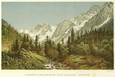 Glaciers of the Sind Valley in the Himalayas, Kashmir--Giclee Print